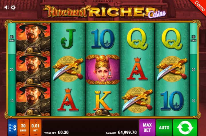Ancient Riches slot machine screenshot