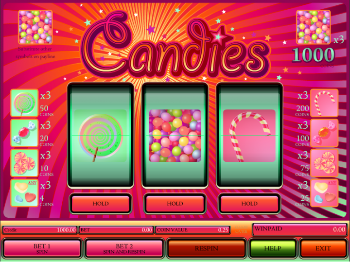 Candies slot game screenshot