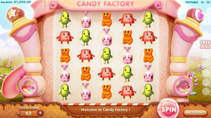 Candy Factory slot game screenshot