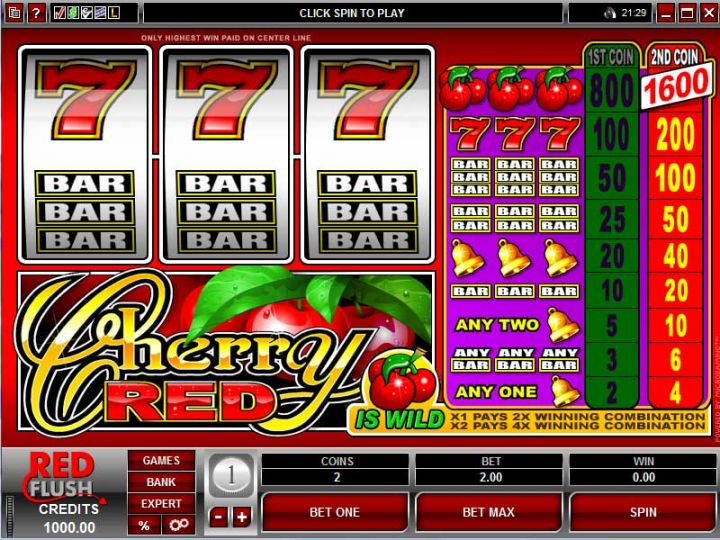Cherry Red video slot game screenshot