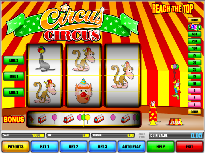 Circus Circus slot game screenshot