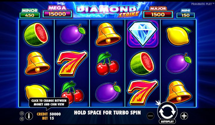 Diamond Strike slot game screenshot