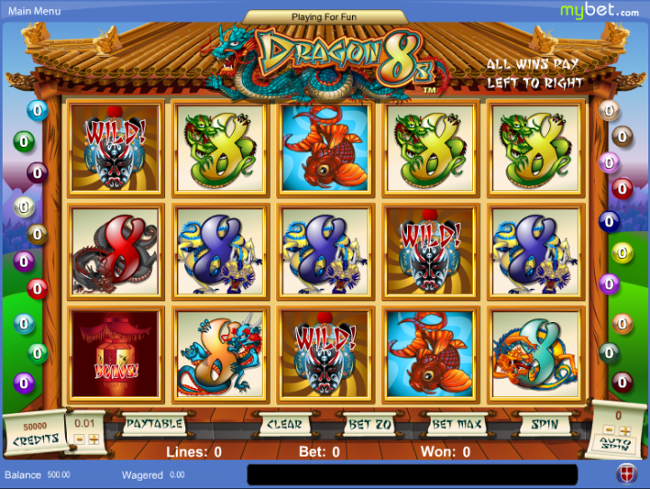 Dragon 8s slot game screenshot