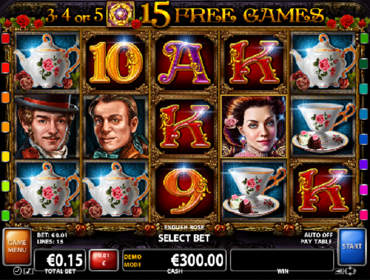 English Rose slot machine screenshot