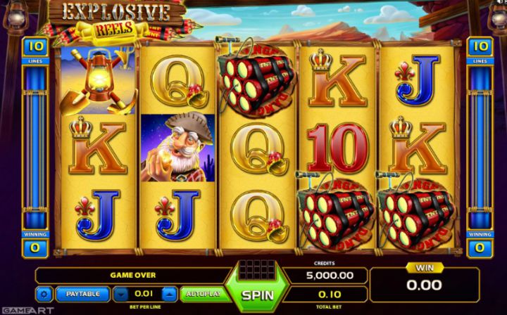 Explosive Reels video slot machine screenshot