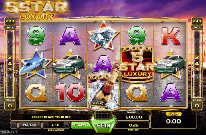 Five Star Luxury slot game screenshot