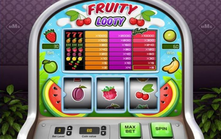Fruity Looty video slot game screenshot