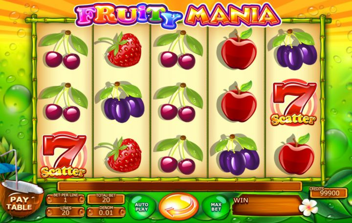 Fruity Mania slot game screenshot