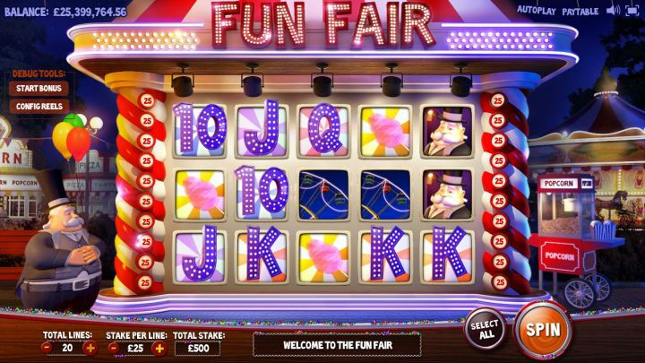 Fun Fair slot game screenshot