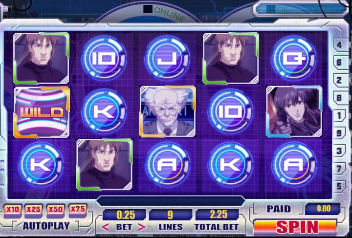 Ghost of the Shell video slot game screenshot