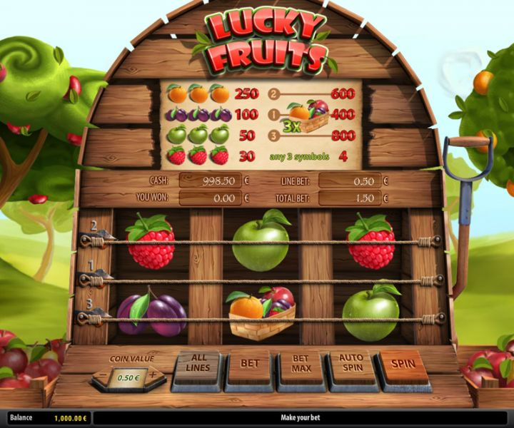 Lucky Fruits slot machine screenshot