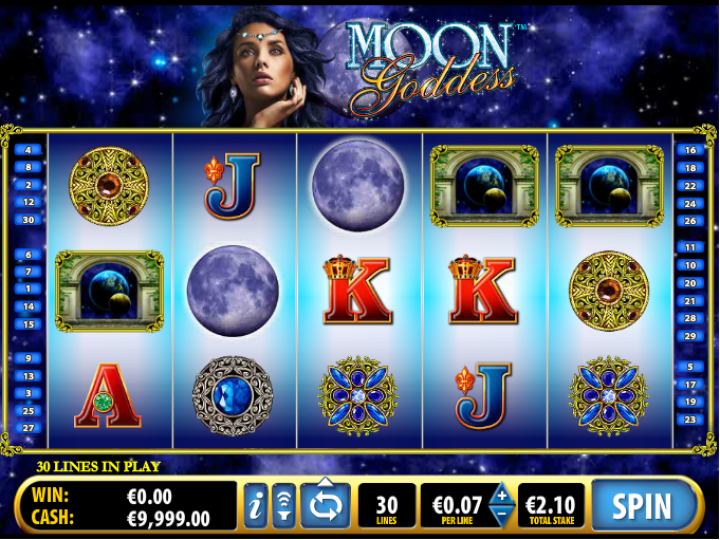 Moon Goddess video slot machine screenshot