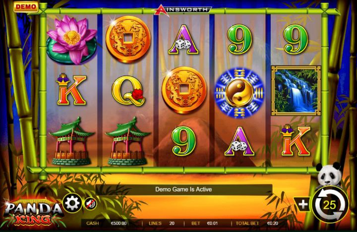 Panda King video slot game screenshot