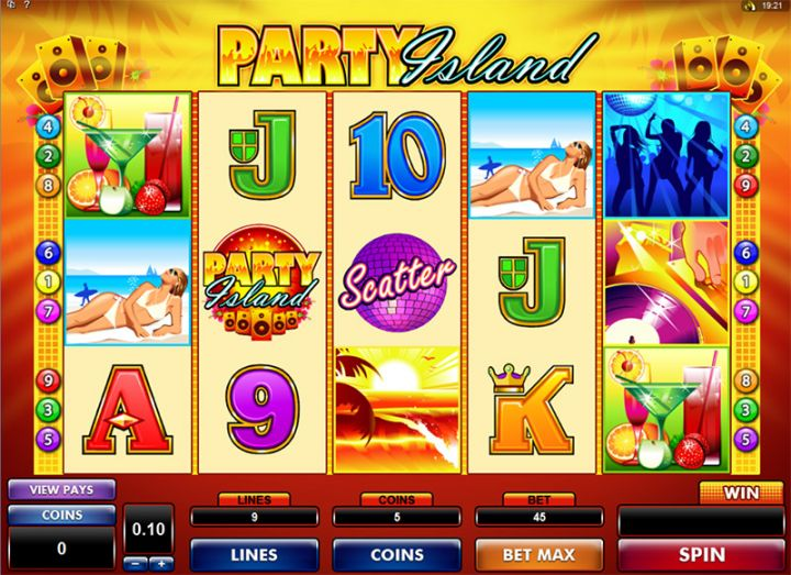 Party Island slot machine screenshot