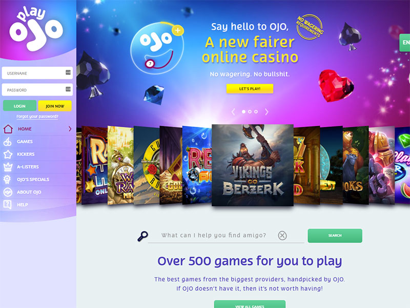 PlayOJO Casinoscreenshot