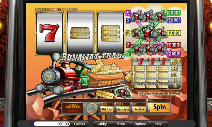 Runaway Train slot game screenshot