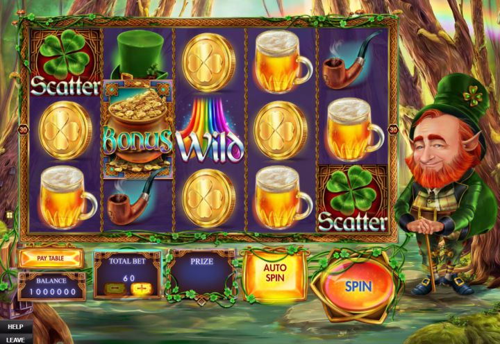 Ryan O'Bryan and the Celtic Fairies video slot machine screenshot