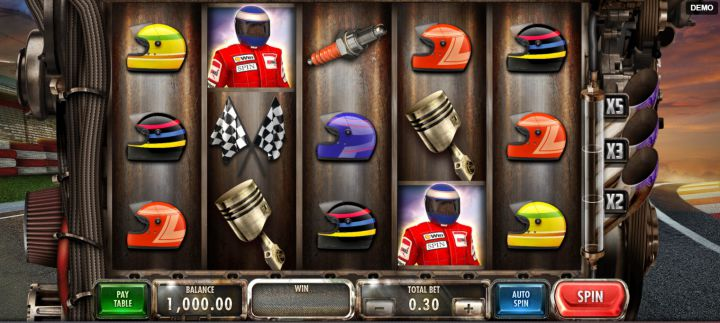 Speed Heroes video slot game screenshot