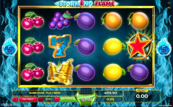 Storming Flame slot game screenshot