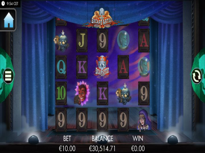 The Escape Artist slot game screenshot