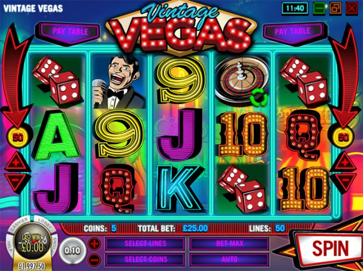 Vintage Vegas video slot game screenshot