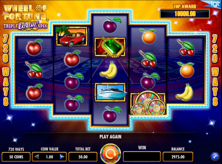 Wheel of Fortune: Triple Extreme Spin video slot game screenshot