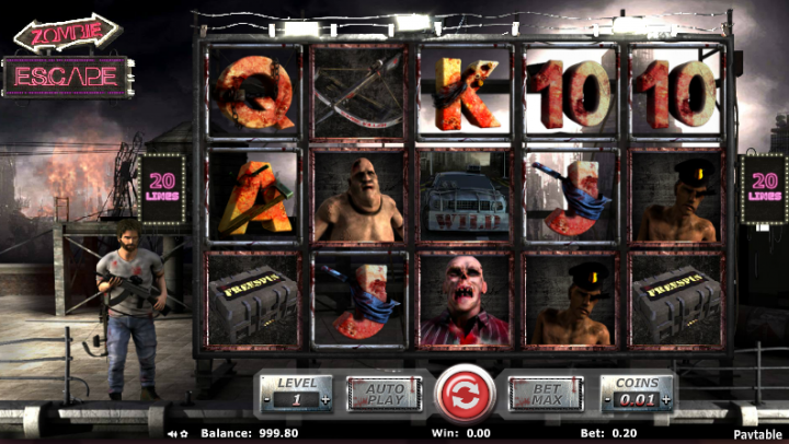 Zombie Escape video slot game screenshot